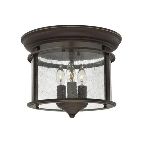 Flush Ceiling Lights For Hallway Traditional Flush Fitting Bronze Lantern With Clear Seeded Glass