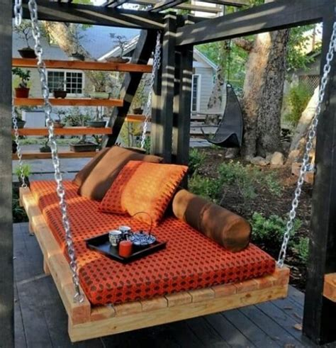 pallet bench swing 33 pallet swings chair bed and bench seating plans pallet furniture diy