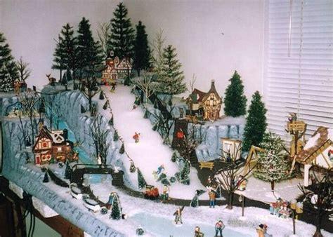 miniature mountain village platform display villages and display on