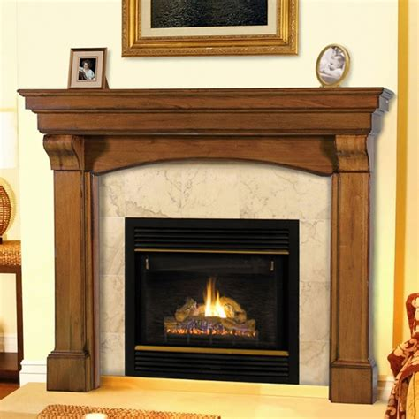New Fireplace Mantel by Pearl Mantels 195 Blue Ridge Wooden Fireplace Mantel