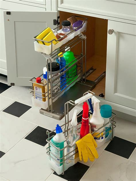 7 Smart Home Solutions And Organizers by Cleaning Supply Cabinet Storage