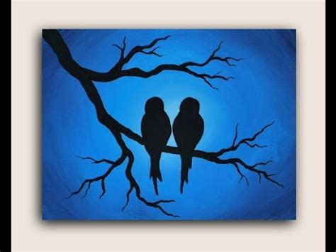 how to lighten acrylic paint on canvas acrylic painting on canvas birds