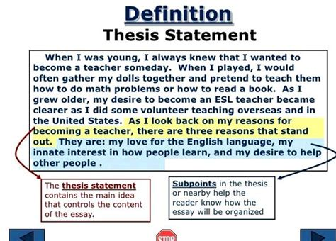 What Is A Subthesis by Sub Thesis Definition In Writing
