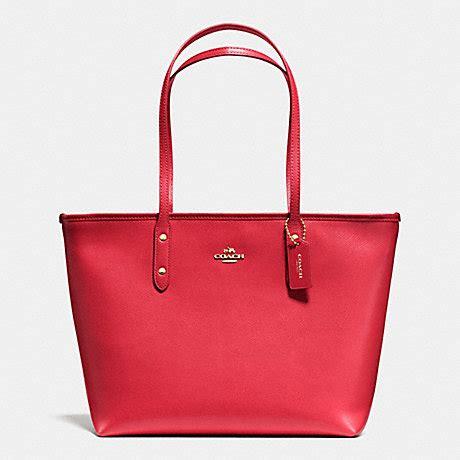 Coach Zip Tote coach f36875 city zip tote in crossgrain leather handbags
