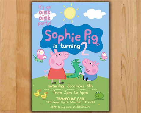 peppa pig invitations template peppa pig invitation peppa pig birthday invitation peppa
