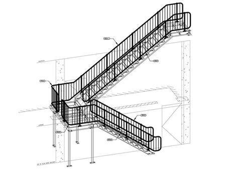 Access Stairs Design Steel Stairs Handrail And Balustrade Seq Steel Detailing Seq Steel Detailing
