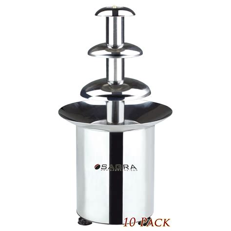 tabletop battery operated chocolate fountain 10 pack