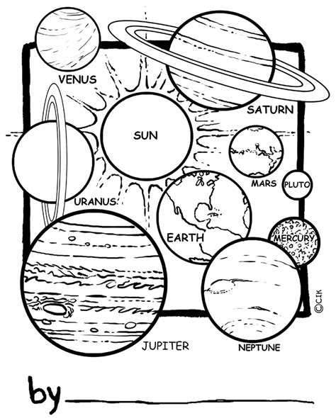 Solar System Printable Coloring Pages free printable solar system coloring pages for