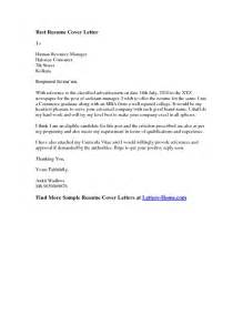 Best Resume Cover Letter Exles by Best Resume Cover Letter Pdfsr