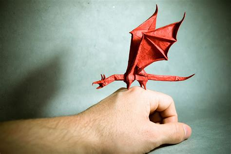 Origami Paintings - origami by artist gonzalo calvo