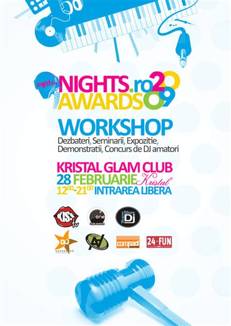 werkstatt poster logo design identity branding nights ro awards 2009 on