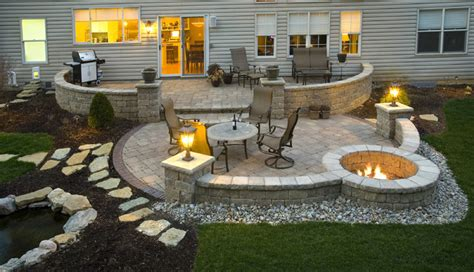 Patio Exterior Design Paver Patio Contemporary Exterior Cincinnati By