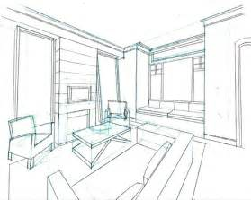 room sketch perspective sketch to help client visualize living room