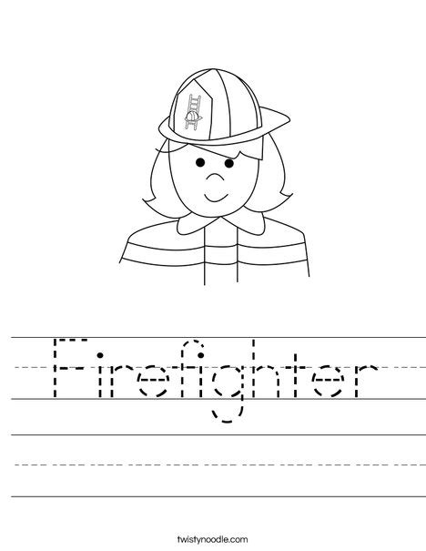firefighter coloring pages kindergarten firefighter worksheet twisty noodle