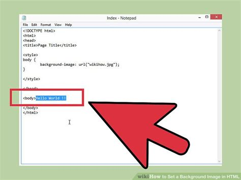 html background image code how to set a background image in html 13 steps with