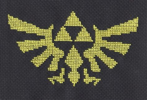 zelda cross stitch pattern hylian crest cross stitch by lil samuu on deviantart