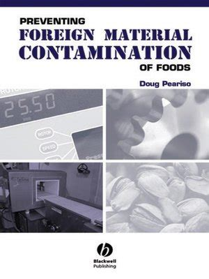 foreign matter preventing foreign material contamination of foods by doug