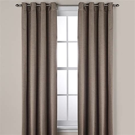 108 inch grommet curtains buy ashton 108 inch grommet window curtain panel in smoke