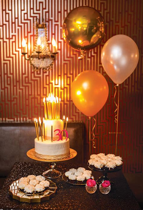 gold birthday themes pink gold bubbly 30th birthday party hostess with the