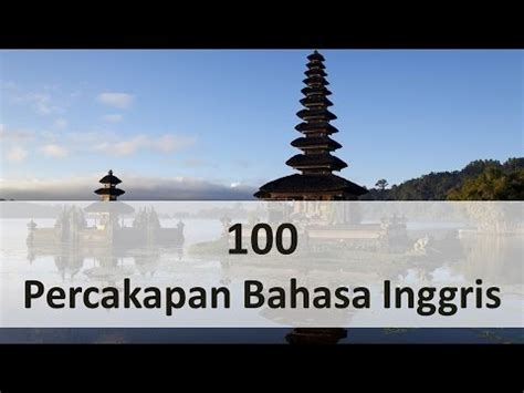 bahasa inggris 100 percakapan bahasa inggris