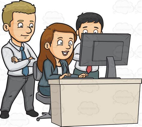 clipart office office employees clip gallery