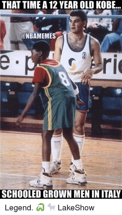 12 year old italian boys that time a 12 year old kobe schooled grown men in italy