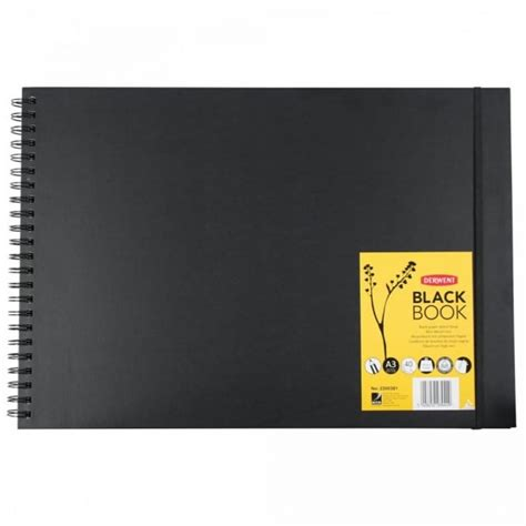 derwent black book sketchbook a4 landscape black paper sketch book a3 landscape supplies from