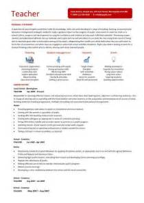 Cv Template For Teachers Curriculum Vitae Curriculum Vitae Exles For Teaching