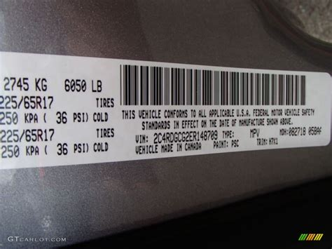 2014 dodge grand caravan sxt color code photos gtcarlot