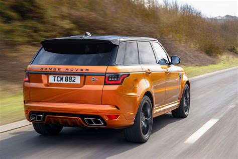 orange range rover svr autotest range rover sport svr 2018