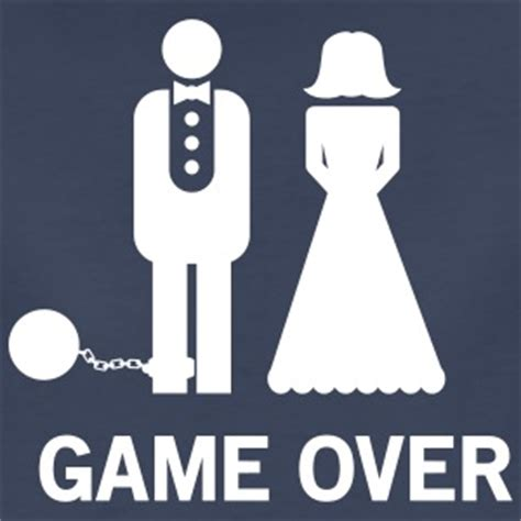 Ball and chain marriage cartoon