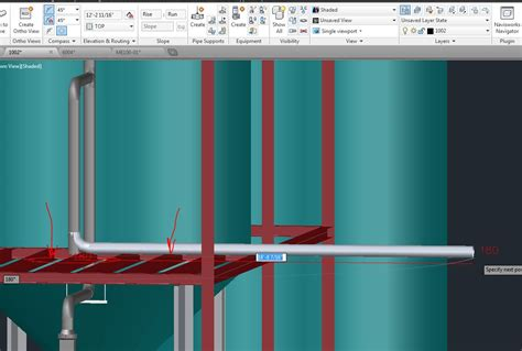 patpat79 autocad plant 3d specialist piping p id how to make the pipe rest on bop on the beam structure