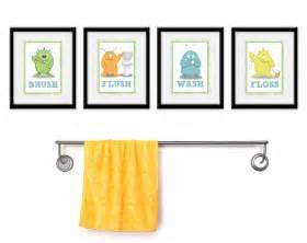 Bathroom Art For Kids - kids bathroom art children s wall decor monsters for the