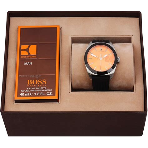 men s hugo boss orange gents fragrance gift set watch