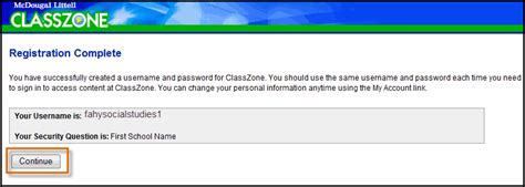 activate your products classzone registration complete