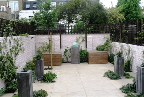 Polished Concrete Planters by Garden With Concrete Planters Water Feature And Polished