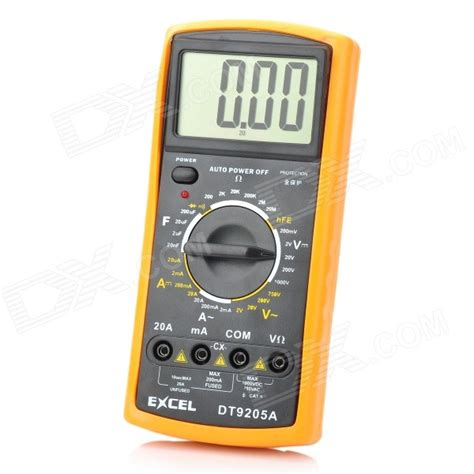capacitor setting digital multimeter dt 9205a 2 8 quot lcd current voltage capacitance resistance digital multimeter 1 6f22 free