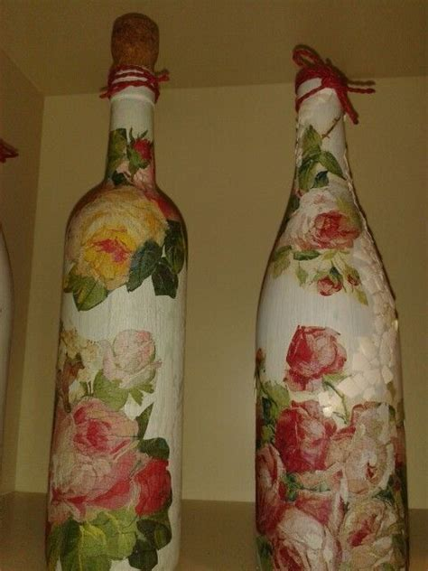 Decoupage Bottle - 17 best images about paper decoupage on