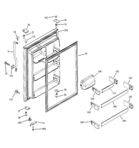 hotpoint refrigerator freezer door parts model