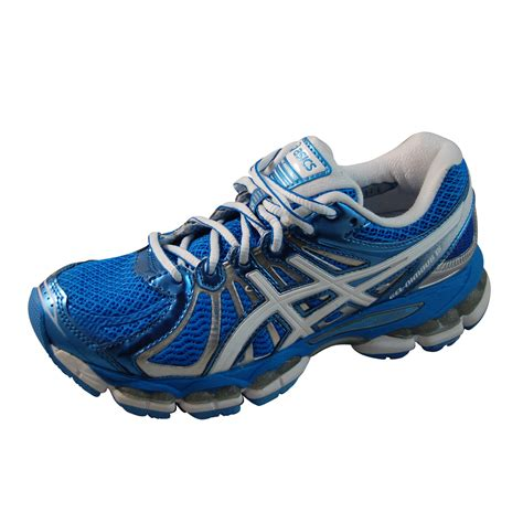 asics womens gel nimbus 15 blue running shoes t3b5q 4501