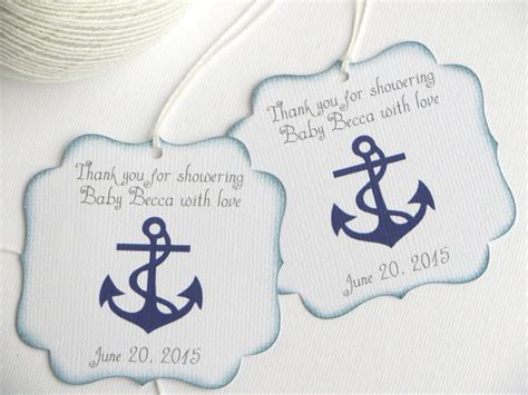 Thank You Baby Shower Favor Tags by Nautical Baby Shower Favor Tags Navy Blue Baby Shower Thank