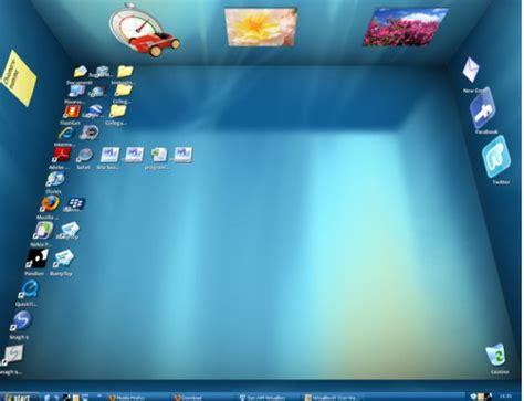 sfondo desktop scrivania libreria desktop 3d su windows con bumptop trackback