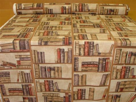 books on upholstery vintage library books cotton designer curtain upholstery