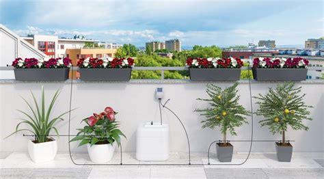 irrigazione balcone senza rubinetto annaffiatoio addio arriva aqua magic system irrigazione