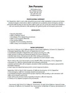 Resume For Dispatcher by Professional 911 Dispatcher Templates To Showcase Your Talent Myperfectresume