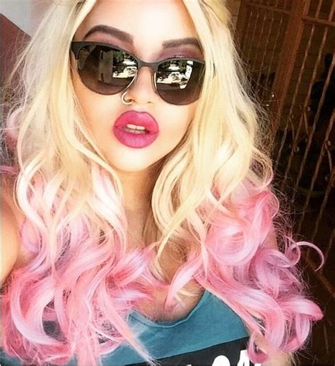 Hair Style Look By Pink by 20 Pink Ombre Hairstyles For Medium