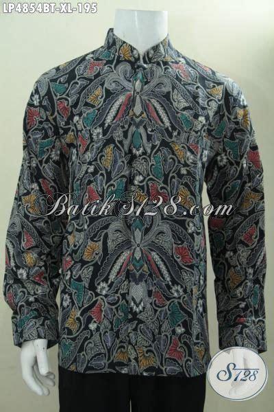 Hem Batik Shanghai busana batik koko motif elegan hem batik kerah shanghai