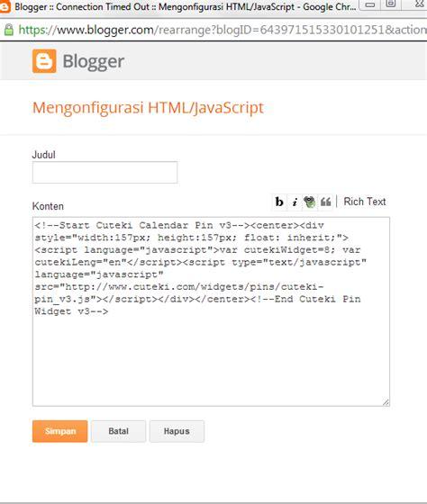 html tutorial for blogger niar s sanctuary tutorial menambahkan gadget di blog