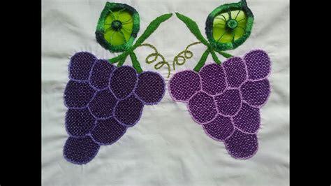 imagenes de uvas para bordar bordado fantasia uvas puntada de la naranja youtube