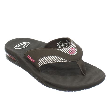 reef fanning flip flops women reef fanning brown pink stripes sandals flip flops